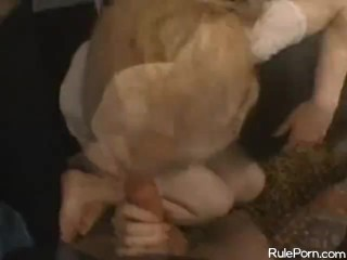 Teeny Blonde Plays With A Fat Dick