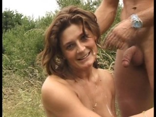 Horny babe loves  cock in the cuntry  (CLIP)