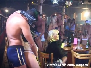 Party girls sucking cock in public