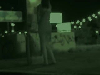 Public Pissing – Bus stop pissing at night while waiting for the bus
