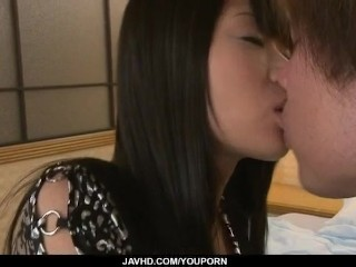 Chika Ishihara gets creamed after a wild fuck show