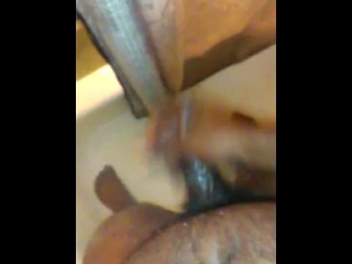 Stroking in the shower