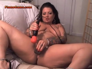 Chubby Cam Girl Does Anal
