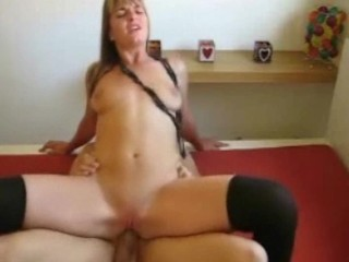 Amateur Boy Entertain Girl In The Bedroom