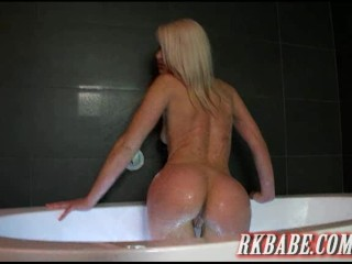 hot blonde with a wet tight ass