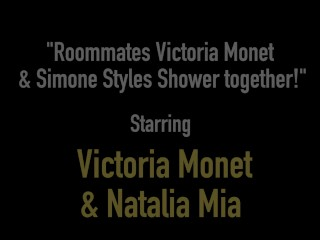 Roommates Victoria Monet & Simone Styles Shower together!