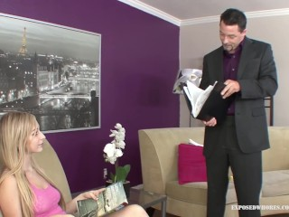 Teen Stepdaughter Stacie Helps Her Stepdad Relax In A Way Every Girl Should