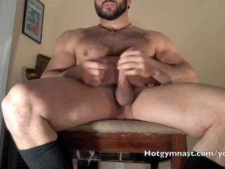 Muscle boss Fantasy stroking thick cock