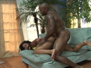 girl lowers her big ol' ass on guy's cock