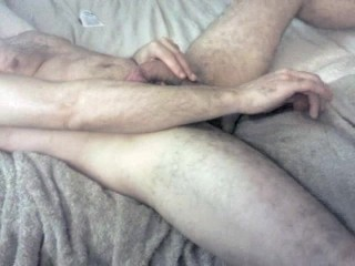 Guy fucking himself with dildo and cumming 2