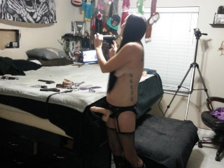 I fuck him with a dildo saw, peg his ass, and make him swallow his own cum!