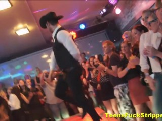 Wild Girls Suck And Fuck Strippers At CFNM Party