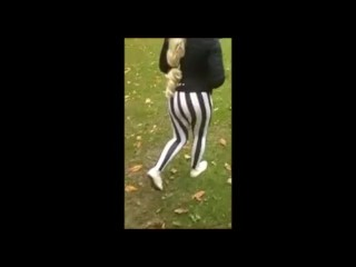 18 year old leggings public park playing – british strip outdoors from this