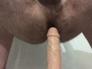 Playing with my new Dildo – RealRock 23cm long
