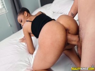 JMac digs his cock deep into ebony babe Arie
