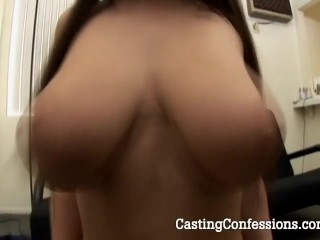 See Whitney fondle her tits and suck his cock during an actual porn casting.
