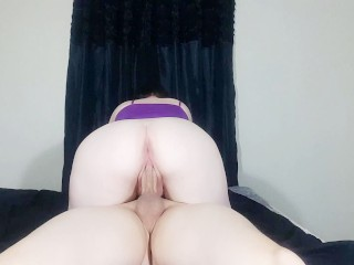 Pale Pierced Brunette with Big Ass Rides BF and Swallows Cum – SlinkySex