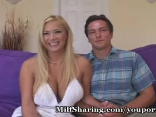 Hubby Watches His Stacked Wife