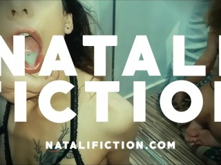 Surprise Blowjob in Kitchen with Cum in Mouth – Natali Fiction