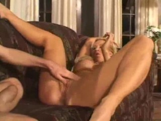 Amber Lynn, hot milf gets banged on the couch