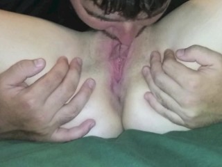 close up pussy licking and dildo fucking