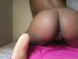 Ebony Woman With Creamy Pussy