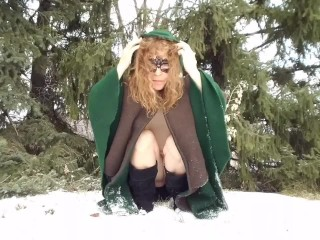 Request, Playing in the Snow, Getting My Naughty Bits and Feet Soooo Cold!