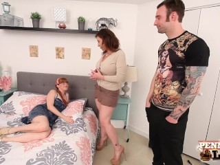 Hottie Penny Pax & her BF Fuck Sara Jay at her AirBnB!