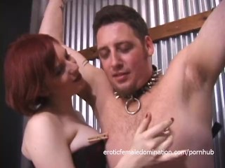 Horny stud gets bound and pleasured in numerous kinky ways
