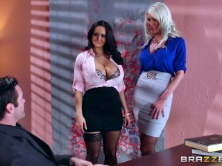 Sexy threesome in the office – Brazzers