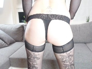 Blonde gets horny ass fuck with creampie