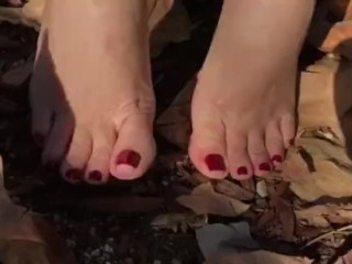 Lovely Nikkie's Feet at the Park Part 5