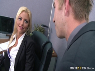Britney Shannon fucks her impatient boss in his office