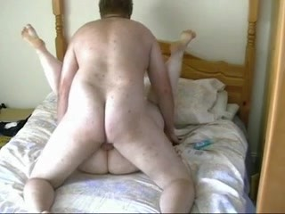 Horny fat chubby redhead fucking and riding her bf