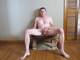 jacking off on a stool