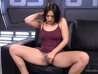 19 year old fists her own pussy and squirts every where