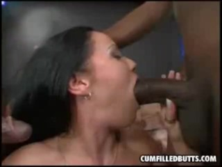 ass pumped by two black dicks