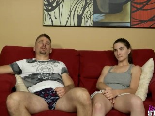 Masturbating On The Couch With StepDaddy – Molly Jane