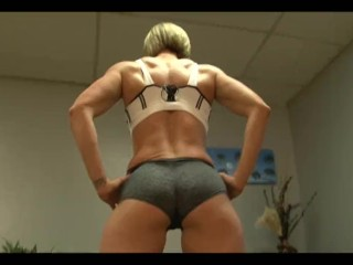 bodybuilding muscle girl fendom butt busting with Rapture