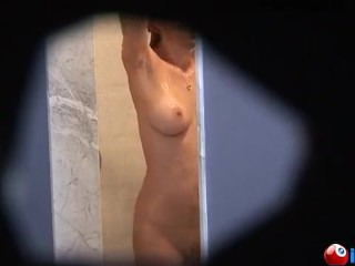 Peep Hole action fo girl in shower