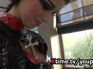 girl in latex fucked strong everywhere. Watch bsdm video on xtime.tv