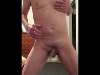Wanking and Drinking Cum