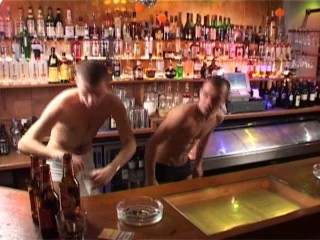 Stroking behind the bar
