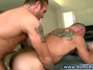 Gay butt plugged by straighty