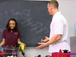 College Teen Selling Her Panties Caught & Fucked By Teacher