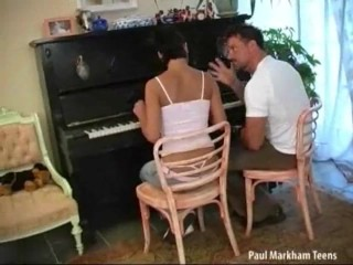 Piano lessons gone anal
