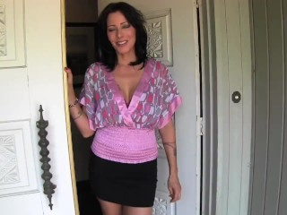 Cheating housewife brings you over to her house and strokes your cock