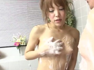 Uncensored JAV soapland body washing foreplay Subtitled