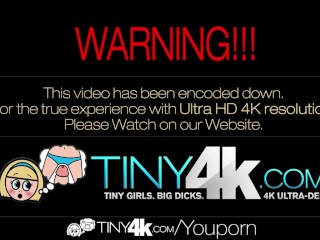 HD – Tiny4k Teen Alaina Kristar gets a healthy creampie in her pussy