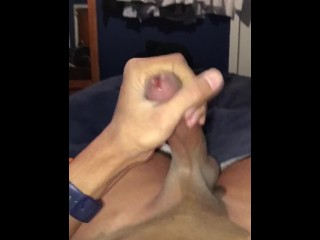 Solo quickie in bed